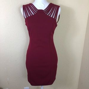 NWT Fab'rik merlot fitted strappy dress S